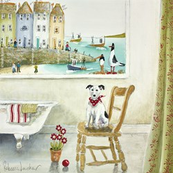Terriercotta by Rebecca Lardner - Original Painting on Board sized 12x12 inches. Available from Whitewall Galleries